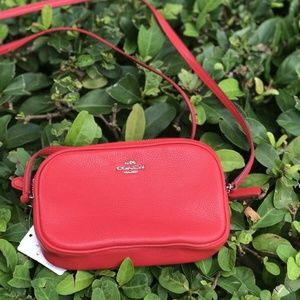 Coach Pebbled Crossbody Bag in Bright Red F65988